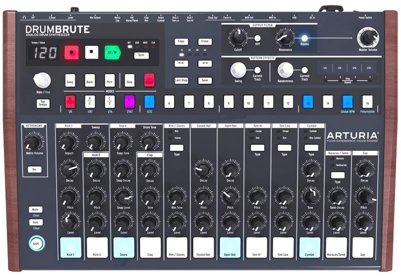 DrumBrute:フロントパネル