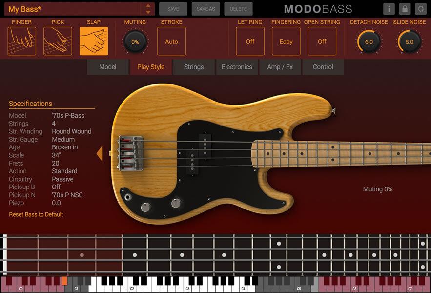 MODO BASS:演奏スタイルの選択