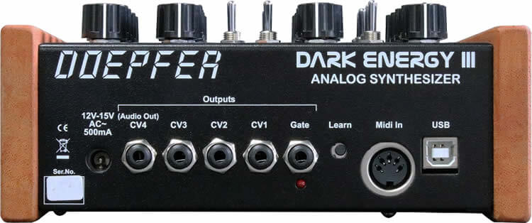 Doepfer Dark Energy III:リアパネル