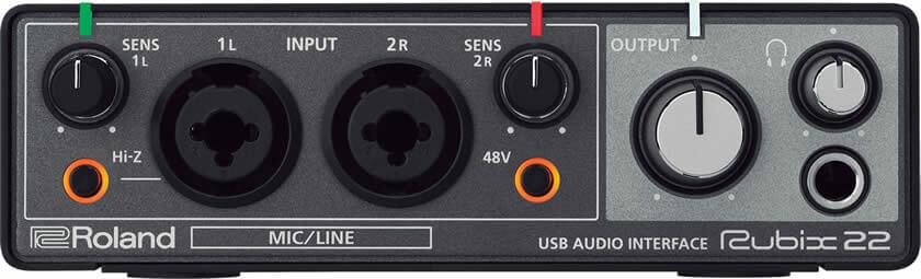 Roland Rubix22:フロントパネル