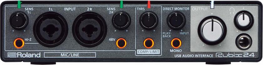 Roland Rubix24:フロントパネル