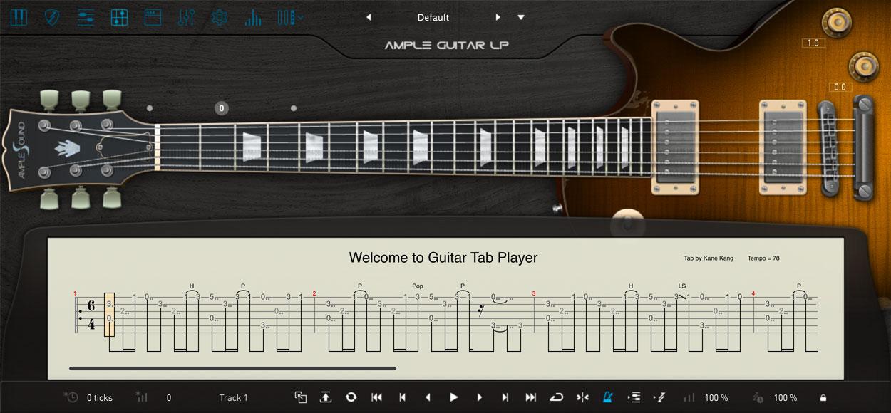 AMPLE GUITAR LP III:TAB譜