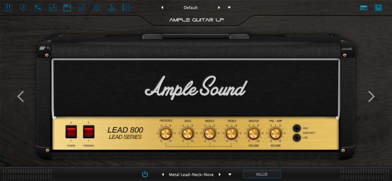 AMPLE GUITAR LP III:アンプシミュレーター