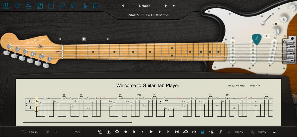 AMPLE GUITAR SC III:TAB譜
