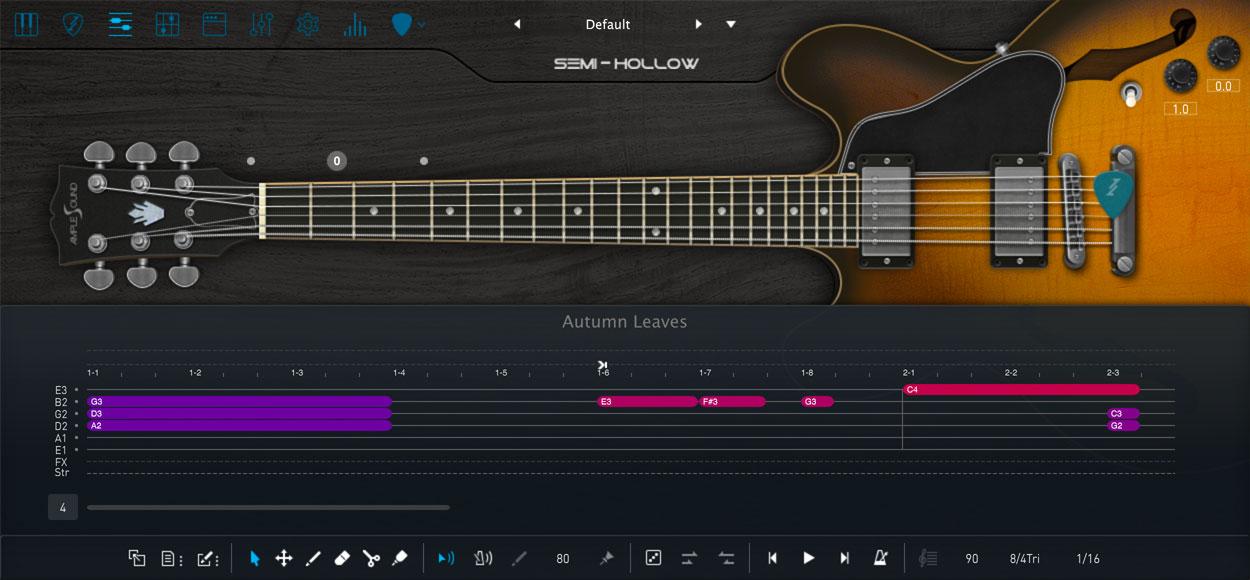 AMPLE GUITAR SH III:インターフェイス