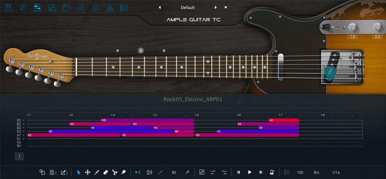 AMPLE GUITAR TC III:インターフェイス