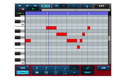 MIDI編集画面